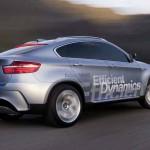 Veränderte Heckpartie der BMW X6 Hybrid Studie