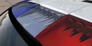 Blaulicht des Carbon Motors E7
