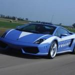 In Italien tatsächlich on tour, der Lamborghini LP560