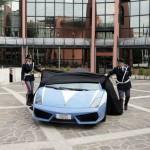 Der ganze Stolz des Reviers, ein Lamborghini LP560