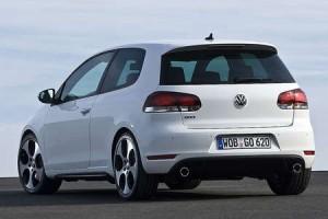 Heckansicht des VW Golf 6 GTI