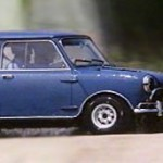 Blauer Mini Cooper S aus dem Film