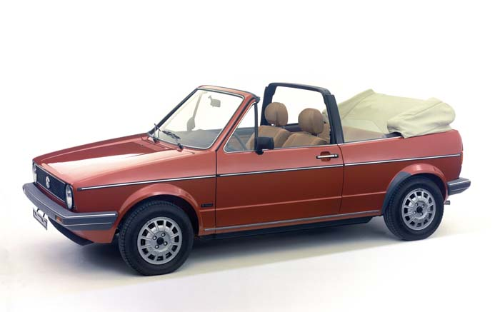 VW Golf 1 Cabriolet offen